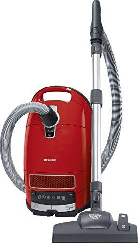 Miele Complete C3 Red EcoLine Bodenstaubsauger (mit Beutel und EEK A+, 550 Watt, 12 m Aktionsradius, 4,5 Liter Staubbeutelvolumen) rot Wirkungsgrad Motor