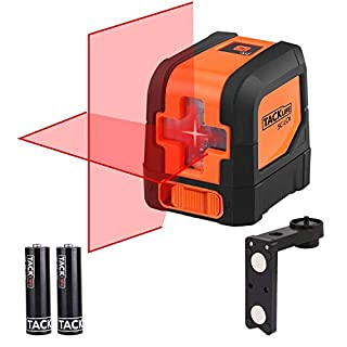 Tacklife SC-L01 Classic 15M Cross Line Laser Self-Leveling line and Vertical Line Brighter Red Laser with a 360¡ã Swivel Magnetic Base (A Protective Bag Included)