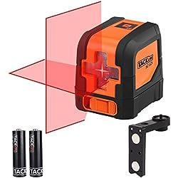 Tacklife SC-L01 Classique Niveau Laser Croix 15m /Laser Horizontal et Verticale /Grand Angle de 110°/Verrouillable /Laser Rouge et Brillant /Support Magnétique Rectangulaire
