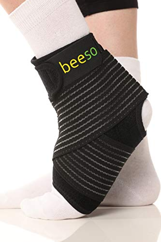 Medizinische Fußbandage Sprunggelenk von BEESO | Fußgelenkbandage Gelenkbandage Knöchelbandage Sprunggelenkbandage für links & rechts - stützt Fuß Fußgelenk Knöchel bei Sport, Schmerzen