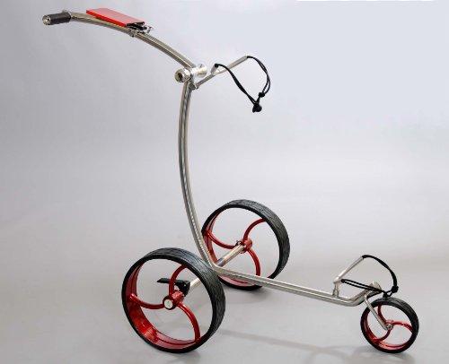 RT–210acier 3rad Push Chariot en argent–Roues...