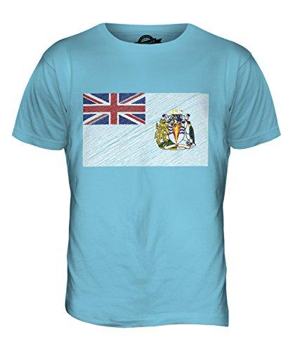 CandyMix Britisches Antarktis-Territorium Kritzelte Flagge Herren T Shirt Himmelblau