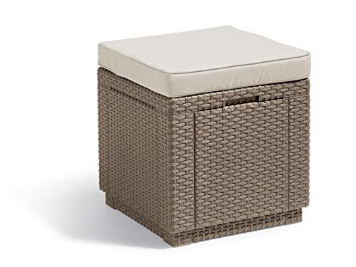 Allibert Taburete, Cube Cushion, Cappuccino/Sand, 42x 42x 45cm, 233817