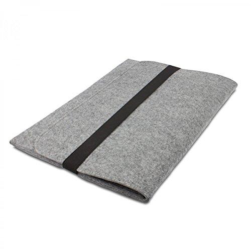 eFabrik Filz Hülle für Fujitsu LIFEBOOK T935, T904 (13,3 Zoll) Tasche Ultrabook Laptop Case Soft Cover Schutzhülle Sleeve Filz hell grau
