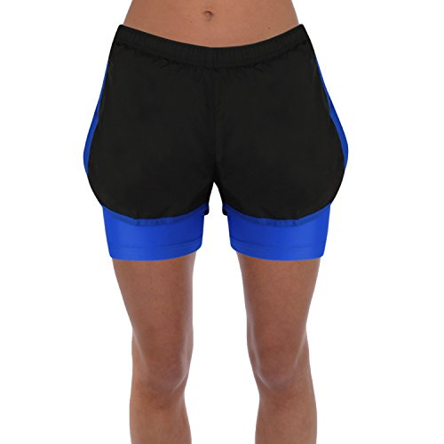 Womens 2 In 1 Shorts For Active Sports Performance Jogging Running Football Gym Cycling Wear Breathable Material Test