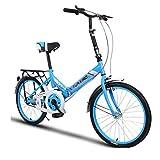 Indoorcycling Bikes Fahrrad-Fahrrad-Unisex-Faltrad 20 Zoll-Rad-faltende Stadt V2 Kompaktes Faltbares Fahrrad-Leichtgewichtler-Legierungs-faltende Stadt (Color : Blue, Size : 26-inch)