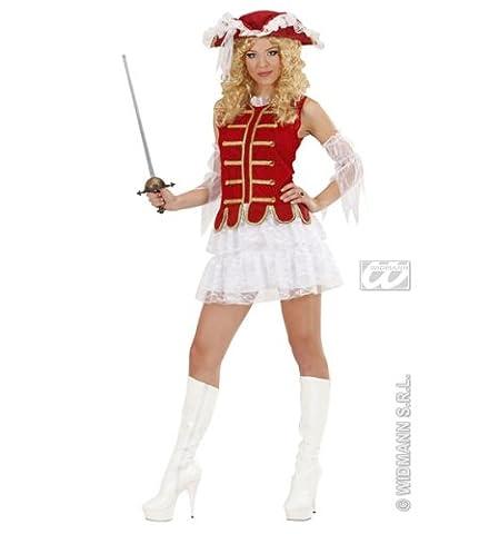 Widmann 89651 - Erwachsenenkostüm Sexy Musketier für Damen, Größe
