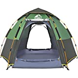 HEWOLF Pop Up Tent for 3 to 4 Person Automatic Opening Hexangular Hydraulic