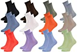 12 Paires de chaussettes Midi en BAMBOU pour Chaque Jour, Délicates Antibactériennes Respirantes Douces Confortable Unisexe Multicolore Pack, tailles 36-38 Certificat d'OEKO-TEX, Made en Europe