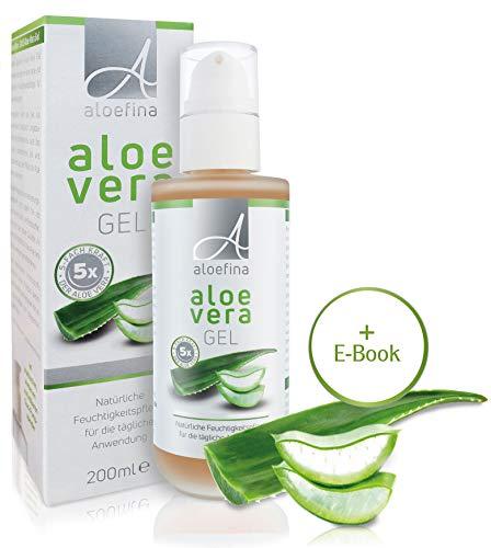 Aloe Vera Gel 100% – Für Gesichtspflege, Körpercreme und Haarkur mit Aloe – Feuchtigkeitspflegegel/Aloe-Creme - Aloe Vera-After-Sun, für trockene Haut, After-Sun, After-Shave