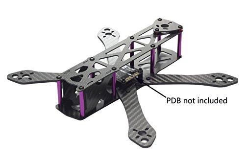 Usmile 3K Carbon Fiber 230mm X design frame Mini quad miniquad fpv quad fpv quadcopter