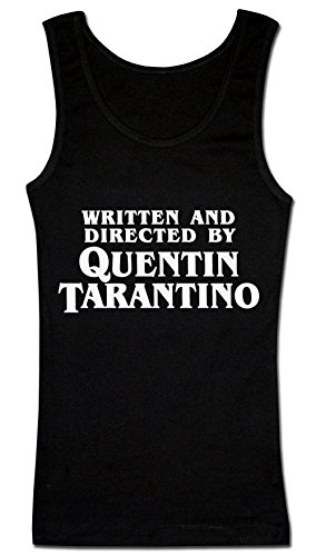 Finest Prints Written and Directed by Quentin Tarantino Damen Tank Top Small - Damen Cotton Rib-tank