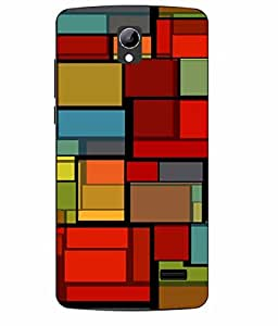 Case Cover Abstract Printed Colorful Soft Back Cover For LYF WATER 10