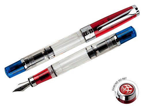 Twsbi Diamond 580 RBT Red & Blue pennino Stub 1.1 - Penna Stilografica
