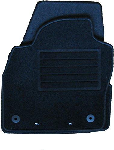 Vertrieb durch Euroconsult Car-Trading Fußmatten Polo Modell 2018 4er-Set Premium Textilfußmatten Schwarz Passform für Polo Modelle ab 09/2014