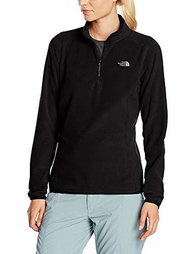 The North Face Damen 1/4 Zip Fleece-Pullover 100 Glacier, schwarz-tnf black, L - Körperflüssigkeit