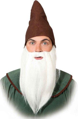 Kostüm Bart Weiße - Orlob glatter Bart zum Kostüm Zwerg Vollbart zu Karneval Fasching weiß