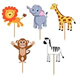 PARTY PROPZ JUNGLE THEME CUPCAKE TOPPERS...