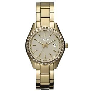 Fossil Damen-Armbanduhr XS Analog Quarz Edelstahl beschichtet ES3107