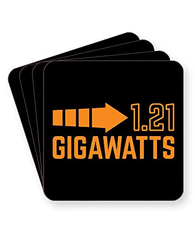 1.21 Gigawatts Back to The Future Coaster Set of 4