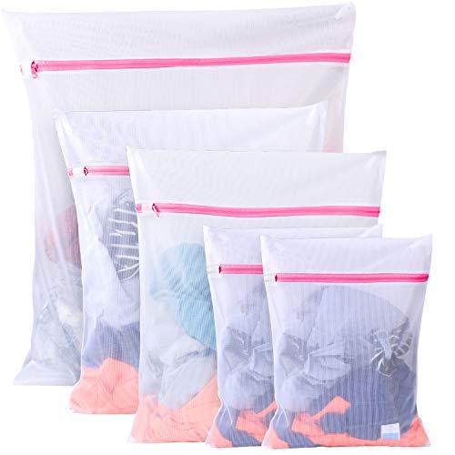 BoxLegend Wäschenetze Wäschebeutel Wäschesack für die Waschmaschine 5 Stück Haltbarer Netz-Wäschebeutel mit Reißverschluss für Feinwäsche Unterwäsche Feines und Socken