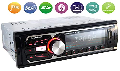 Sound Boss SB-49 Car Stereo with Bluetooth