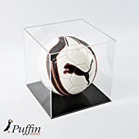 Puffin Plastics Football Display Case - Black Base