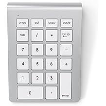 Satechi Teclado Numérico Bluetooth Inalámbrico de Aluminio para iMac MacBook Laptop PC Compatible con Sistemas de Windows y OS X (Plata)