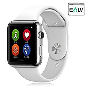 Smart Watch, E LV High Quality Touch Screen Bluetooth Smart Wrist Watch with Camera For Apple iPhone IOS, Android Smartphones Samsung,HTC,Blackberry and more - WHITE