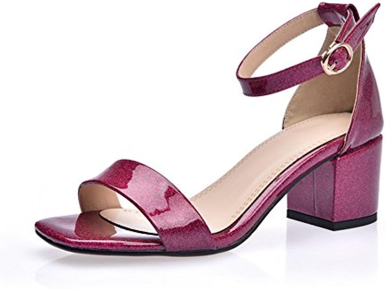 AN, Ballerine Donna, Rosso (rosarosso), 35 EU | Moderato Prezzo  | Maschio/Ragazze Scarpa