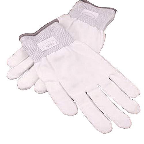 MKILJNH Exquisit Bunte Multicolor Changing Led Optical Fiber Magic Handschuhe LED Licht Handschuhe Finger Licht Handschuhe (Farbe : White, Größe : 24.5x12.5cm)