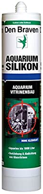 Den Braven CSS33A105001 AQUARIUM SILIKON 300ml TRANSPARENT, süß-und meerwasserbeständig, hohe Elastizität, Aquariensilikon Made in Europe
