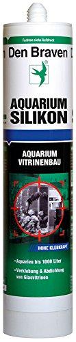 Den Braven CSS33A105005 Den Aquarium SILIKON 300ml SCHWARZ, süß-und meerwasserbeständig, hohe Elastizität, Aquariensilikon Made in Europe