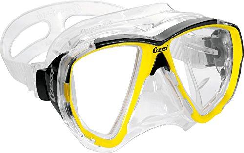 cressi-big-eyes-maschera-subacquea-giallo-yellow-frame-clear-silicone-skirt