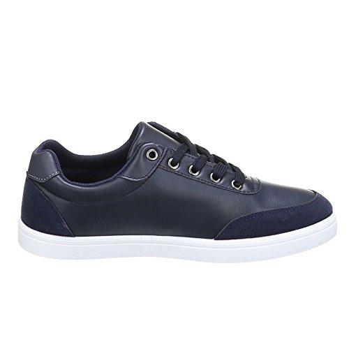 Chaussure, yH1809, baskets homme Bleu - Bleu foncé