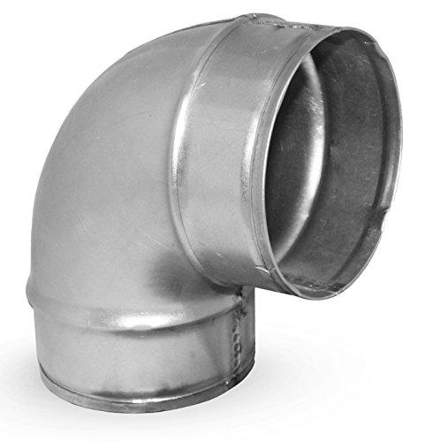 MKK - 10818-4 - 90° Bogen Winkel Wickelfalzrohr Lüftung Rohr Verzinkt Lüftungsrohr Kanal Ø 150 mm