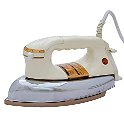 Hi-Choice 750 watt Dry Iron Non Stick Soleplate and Auto Switch Off Function (White)