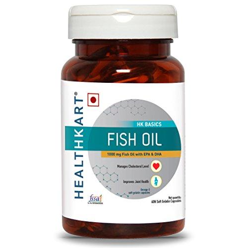 Healthkart Fish Oil (1000 Omega 3 , With 180 Mg Epa & 120 Mg Dha) 60 Softgels