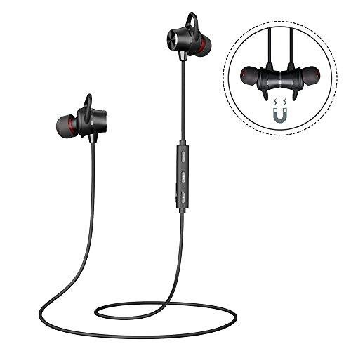Bluetooth Wireless Kopfhörer Magnetische Bluetooth Headset 4.1 Stereo Sport Wasserschutz Kopfhörer Joggen Ohrhörer mit HD Mikrofon 8 Stunden Spielzeit für Allle Smartphone oder Bluetooth Gerät