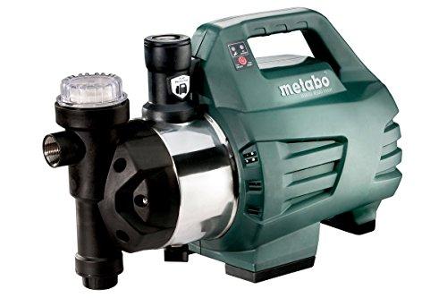 Metabo 600979000 Hauswasserautomat/Hauswasserwerk HWAI 4500 INOX | +Gewindedichtband, Filterschlüssel | Kompakt/Trockenlaufschutz (1300 W | Fördermenge 4500 l/h | 4.8 bar)