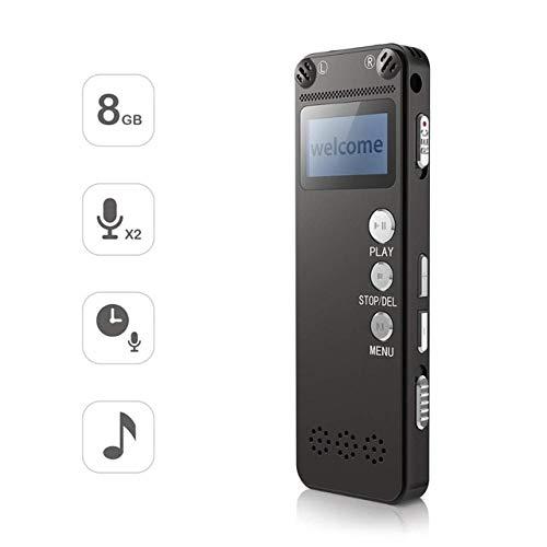 Digitale Audioaufnahme Voice Activated Recorder Wav MP3-Player USB-Laufwerk Tragbar Vor Metal Aluminium Cover Schwarz V31 A (Voice Mp3-player Activated)