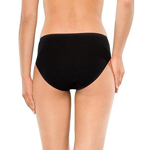 SCHIESSER Damen Tai Slip Cotton Essentials 4er Pack Schwarz (schwarz 000)