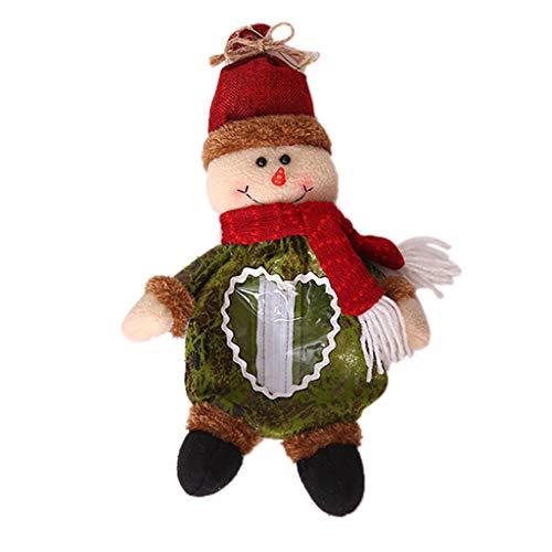 TIREOW Santa Claus Schneemann Elch Weihnachtssüßigkeits Verpackungs Weihnachtstür Hängende Hängen Anhänger Dekoration für Weihnachtsbaum (Rot) (Königs Knecht Kostüm)
