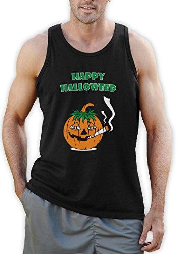 s Glückliche Halloweed Schwarz XX-Large Tank Top (Stoner Halloween Kostüm)