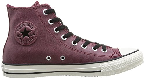 Converse - Chuck Taylor All Star Homme Vintage Leather Hi, Sneakers da donna Rosso (18 BORDEAUX)