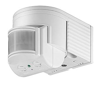 goobay Infrarot Aufputz-Bewegungsmelder für Innen- und Außenbereich - 180° Arbeitsfeld - Reichweite bis 12m - Dreh-/Neigbarer Erfassungsbereich - IP44 Schutzklasse - Spritzwasser geschützt - Weiß