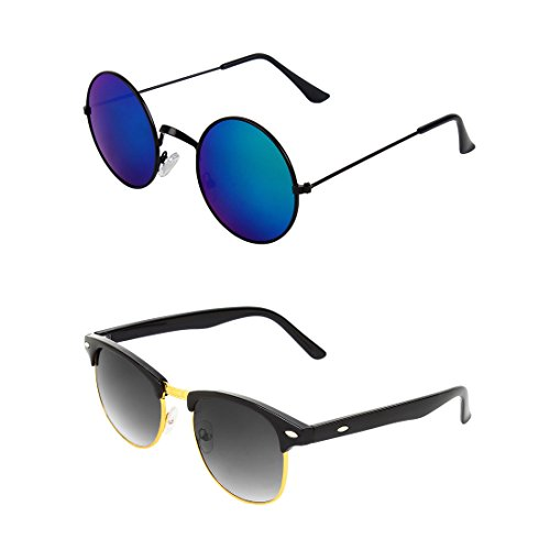 Abner Combo of Round & Clubmaster Sunglasses 238
