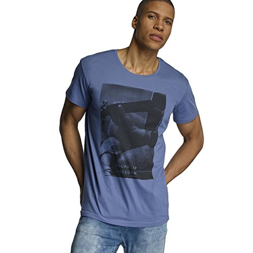 Sublevel Herren Oberteile / T-Shirt Sound of Freedom Blau