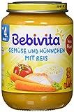 Bebivita Gemüse mit Hühnchen und Reis, 1er Pack (1 x 190g)