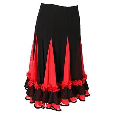 MagiDeal Girls Ladies Long Dance Skirt Club Party Dance Skirt Costume Dancewear Skirt